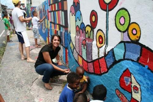Ideas novedosas para fiestas infantiles - Pintar mural en pared ...
