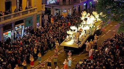 Cabalgata de Reyes en Barcelona 2016